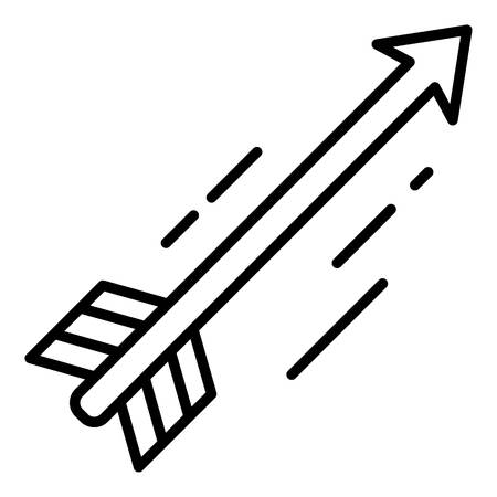 Flying arrow icon, outline style