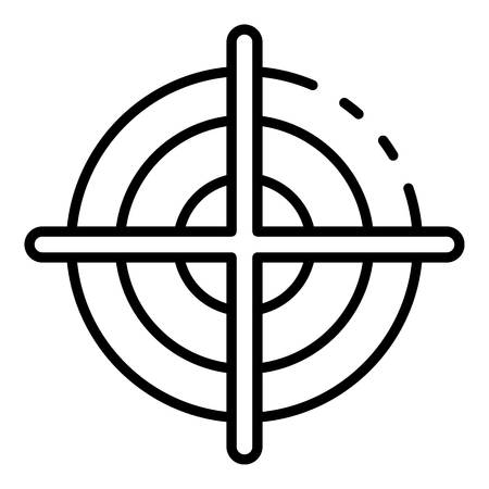 Bow target icon, outline style