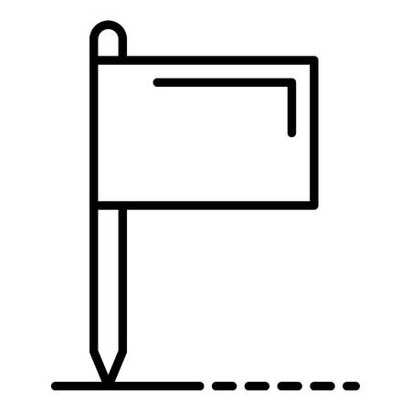 Croquet flag icon, outline style