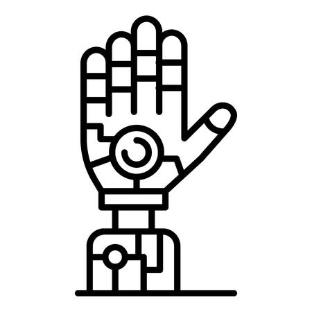 Humanoid hand icon. Outline humanoid hand vector icon for web design isolated on white background Ilustração