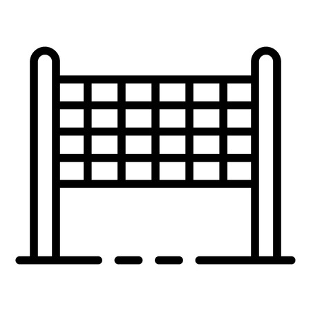 Volleyball net icon, outline style