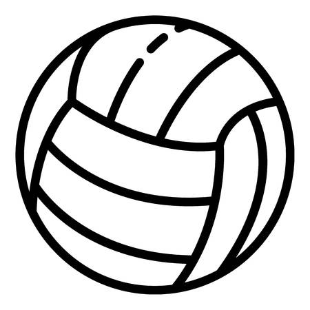 Icono de pelota de voleibol. Esquema de pelota de voleibol icono vectoriales para diseño web aislado sobre fondo blanco.