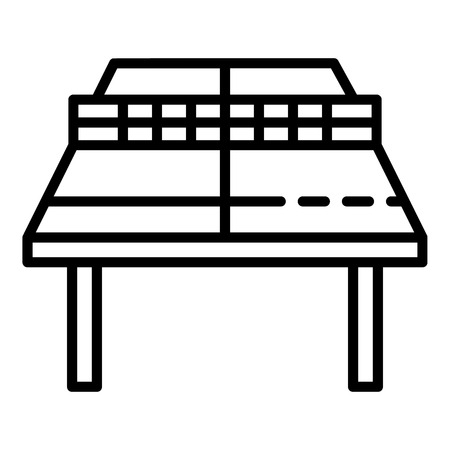 Ping pong table perspective icon. Outline ping pong table perspective vector icon for web design isolated on white background