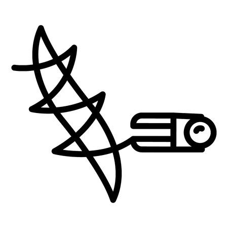 Stitching seam machine icon. Outline stitching seam machine vector icon for web design isolated on white background Illustration