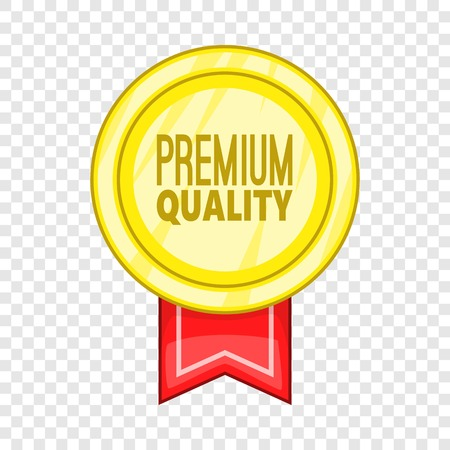 Premium quality label icon. Cartoon illustration of premium quality label vector icon for web Ilustração