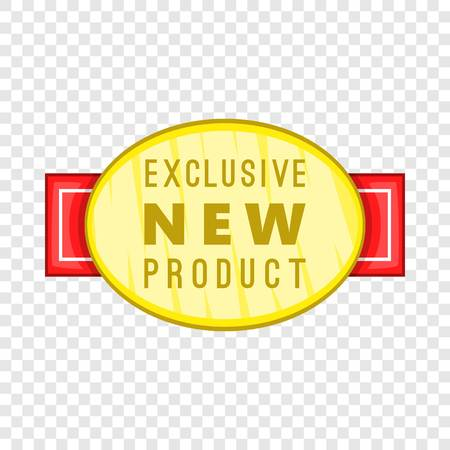 New exclusive product label icon. Cartoon illustration of new exclusive product label vector icon for web Stock Illustratie