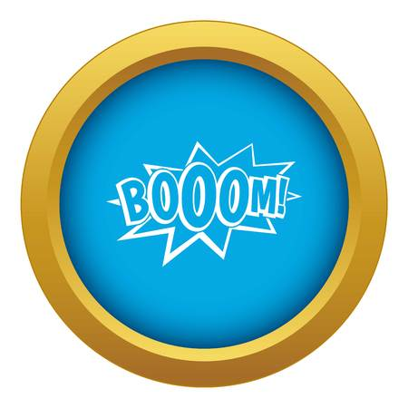 Boom, explosion bubble icon blue vector isolated
