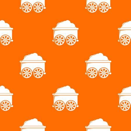 Train wagon pattern vector orange