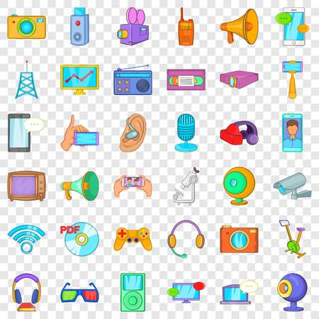 Good device icons set, cartoon style Ilustração
