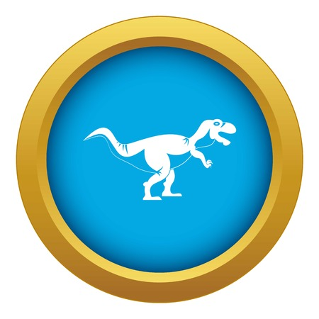 Tyrannosaur dinosaur icon blue vector isolated