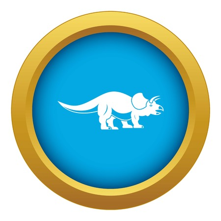 Styracosaurus icon blue vector isolated Illustration