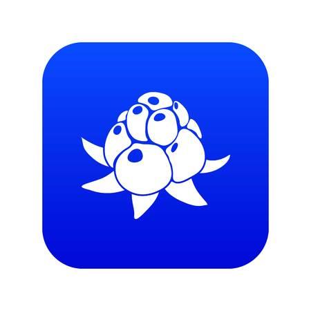 Wild raspberry icon blue vector