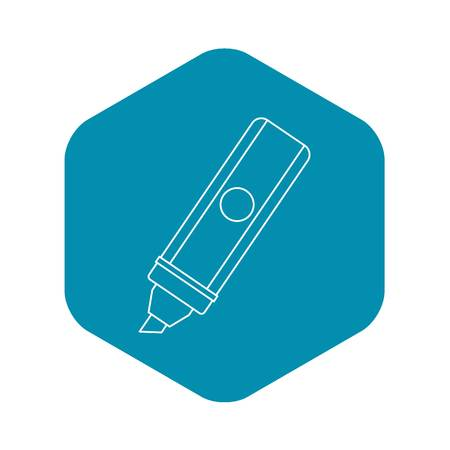 Marker icon, outline style