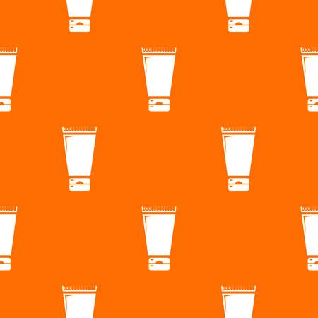 Creme tube pattern vector orange