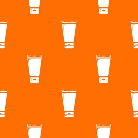 Creme tube pattern vector orange