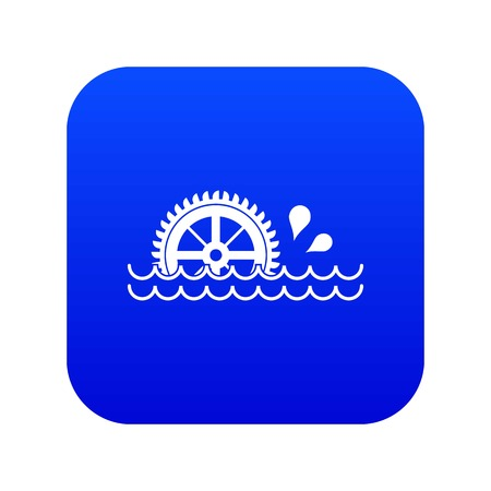 Waterwheel icon digital blue for any design isolated on white vector illustration Illustration