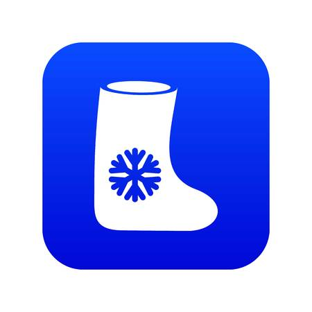 Felt boots icon digital blue for any design isolated on white vector illustration