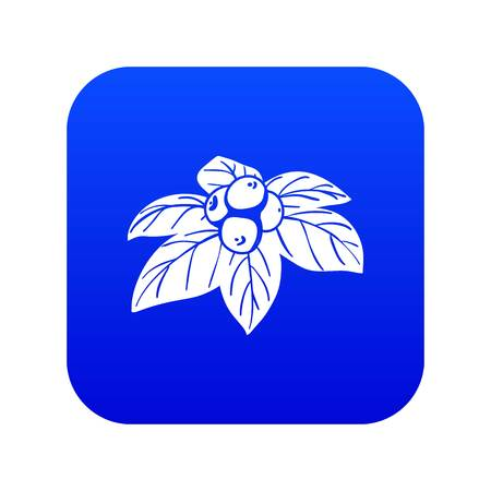 Whortleberries icon blue vector