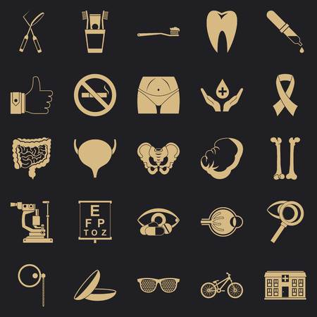 Internist icons set, simple style