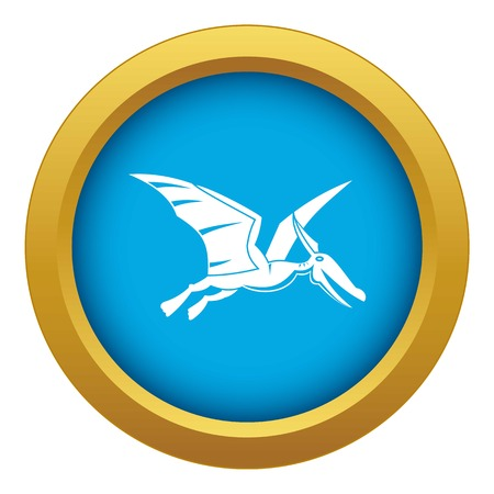 Pterosaurs dinosaur icon blue vector isolated
