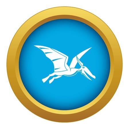 Pterosaurs dinosaur icon blue vector isolated