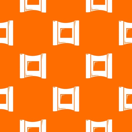 Wet wipes package pattern vector orange for any web design best Vectores