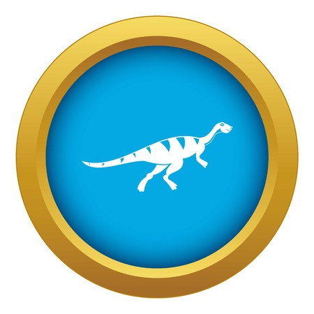 Gallimimus dinosaur icon blue vector isolated