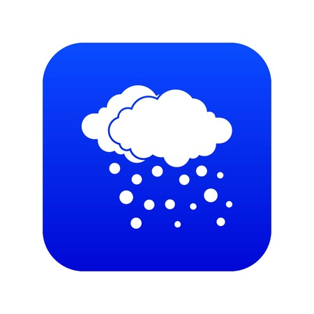 Cloud and snow icon digital blue for any design isolated on white vector illustration