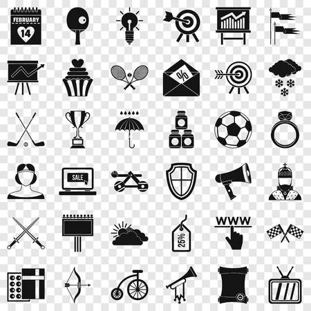 Arrow fly icons set, simple style Banque d'images - 121234659