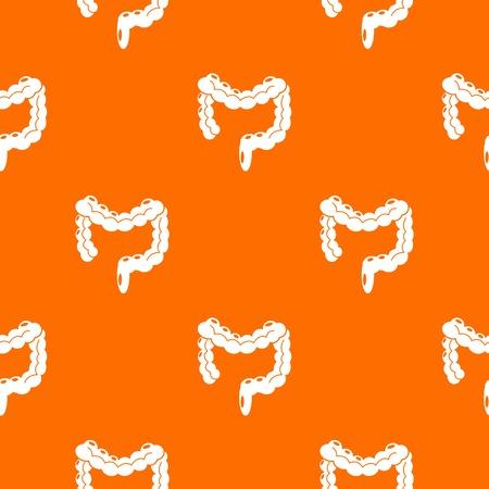 Human large intestine pattern vector orange