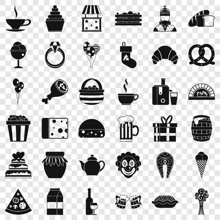Big bounty icons set. Simple style of 36 big bounty vector icons for web for any design Illustration