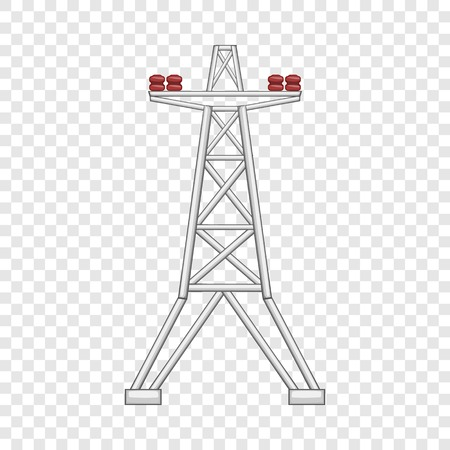 Electric pole icon, flat style