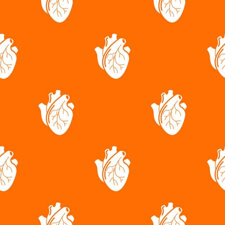 Human heart organ pattern vector orange for any web design best