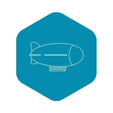 Vintage airship icon. Outline illustration of vintage airship vector icon for web Çizim