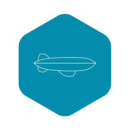 Dirigible icon. Outline illustration of dirigible vector icon for web