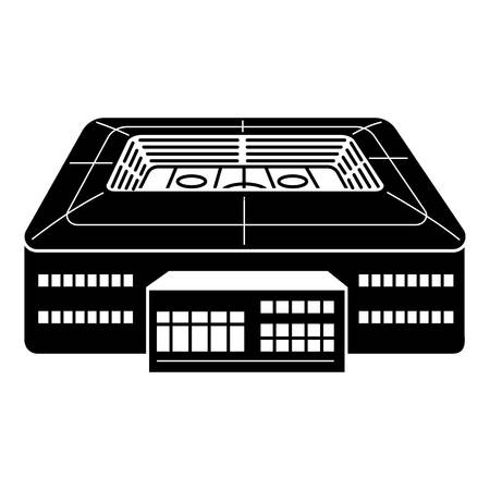Hockey arena icon, simple style