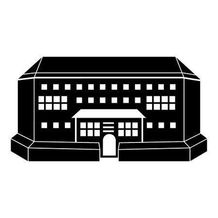 Icono de vista frontal de la arena interior. Ilustración simple de icono de vector de vista frontal de arena interior para diseño web aislado sobre fondo blanco