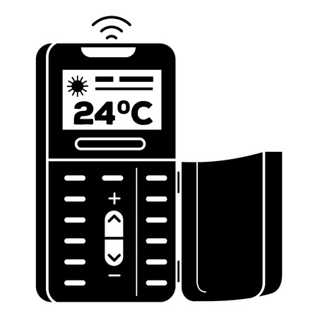 Remote control air conditioner icon. Simple illustration of remote control air conditioner vector icon for web design isolated on white background Illustration