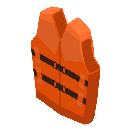 Rescue vest icon, isometric style