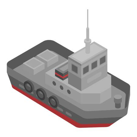 Tugboat icon. Isometric of tugboat vector icon for web design isolated on white background