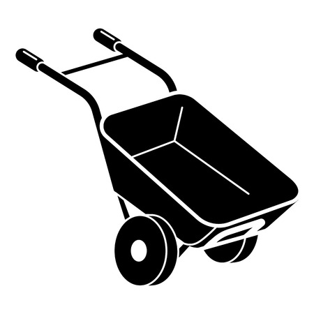 Garden wheelbarrow icon. Simple illustration of garden wheelbarrow vector icon for web design isolated on white background