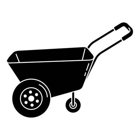 Farm wheelbarrow icon, simple style