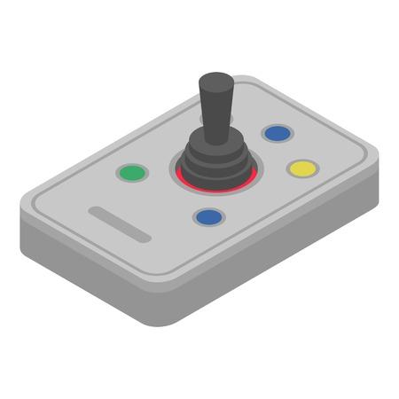 Joystick stick icon. Isometric of joystick stick vector icon for web design isolated on white background