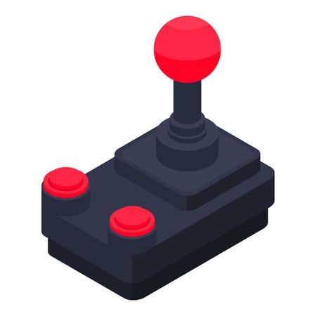 Old joystick icon, isometric style