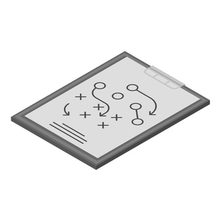 Strategy clipboard icon. Isometric of strategy clipboard vector icon for web design isolated on white background Çizim