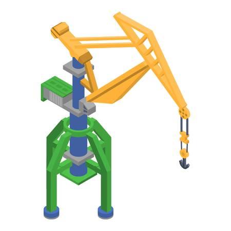 Port crane icon, isometric style 向量圖像