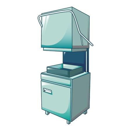Icono de máquina lavavajillas profesional. Caricatura de lavavajillas profesional icono vectoriales para diseño web aislado sobre fondo blanco. Ilustración de vector