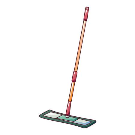 Cleaning mop icon. Cartoon of cleaning mop vector icon for web design isolated on white background