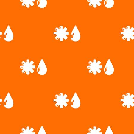 Winter pattern vector orange Illustration