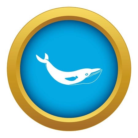 Whale icon blue vector isolated